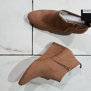 Wedge heel ankle bootie